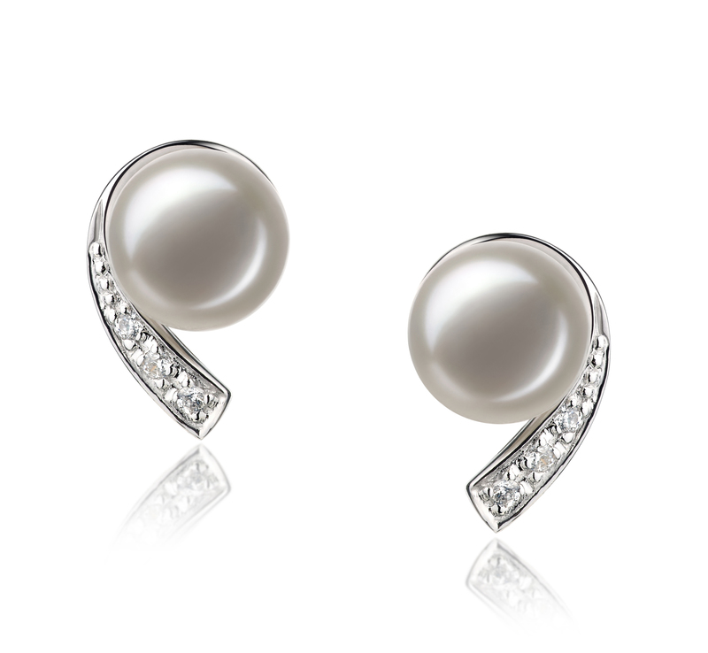 Claudia White 7-8mm AA Quality Freshwater 925 Sterling Silver Pearl Set