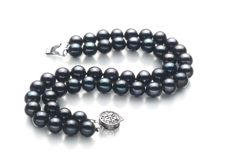 6-7mm AA Quality Freshwater Cultured Pearl Bracelet in Double Strand Black