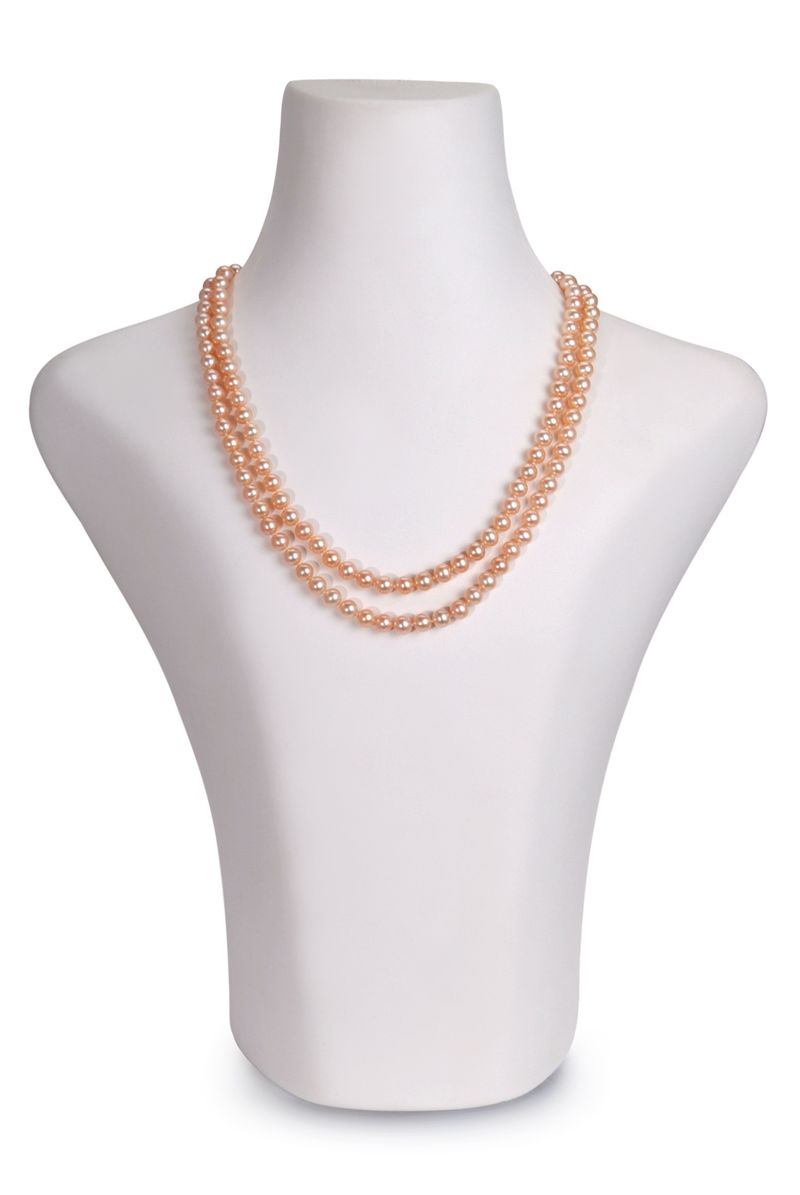 6-7mm AAA Quality Freshwater Cultured Pearl Necklace in Marla Pink