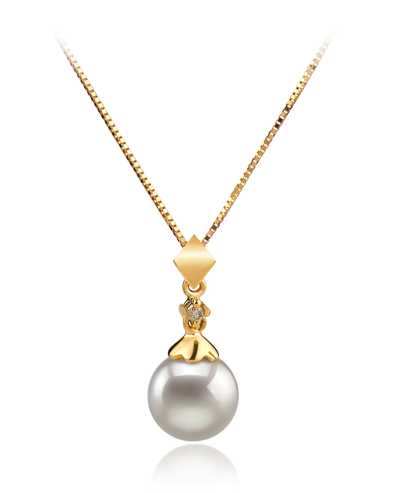 7-8mm AA Quality Japanese Akoya Cultured Pearl Set in Georgia White