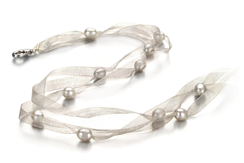 Jasmine White 5-6mm A Quality Freshwater Pearl Necklace