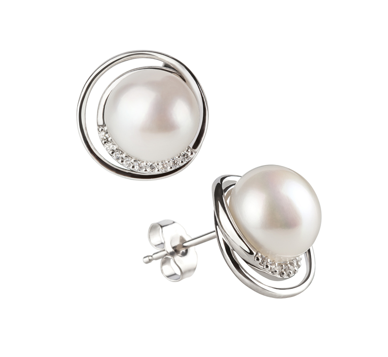 Kelly White 9-10mm AA Quality Freshwater 925 Sterling Silver Pearl Set
