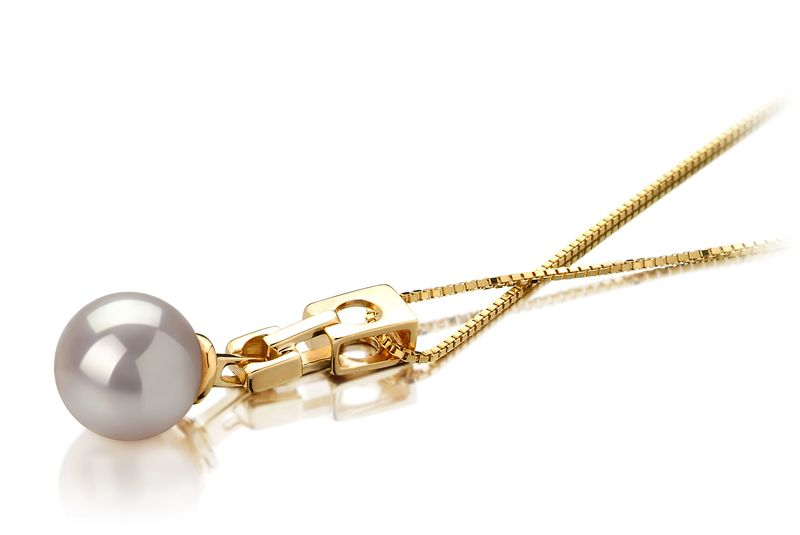 6-7mm AA Quality Japanese Akoya Cultured Pearl Pendant in Kylie White