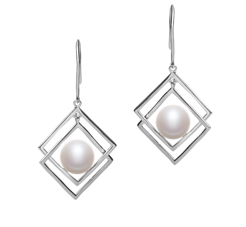 8-9mm AAA Quality Freshwater Cultured Pearl Set in Lilian White