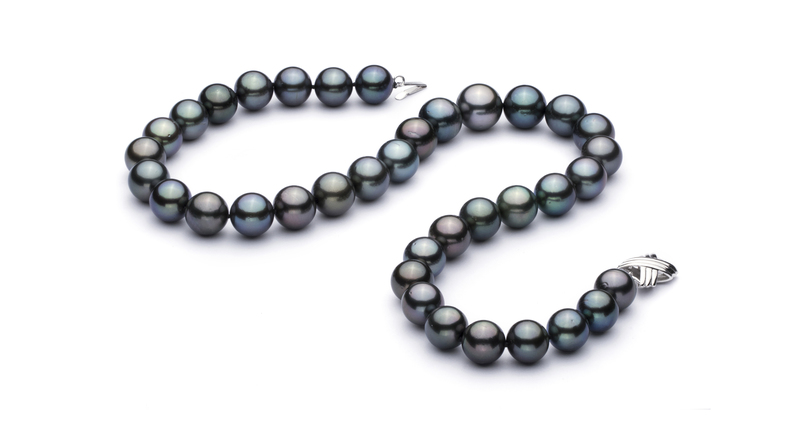 11-13.2mm AAA Quality Tahitian Cultured Pearl Necklace in Multicolour