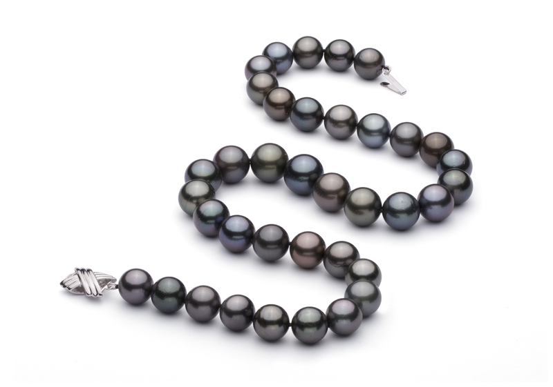 11-13.4mm AA+ Quality Tahitian Cultured Pearl Necklace in Multicolour