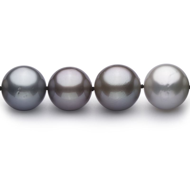 11.5-14.6mm AA Quality Tahitian Cultured Pearl Necklace in Multicolour