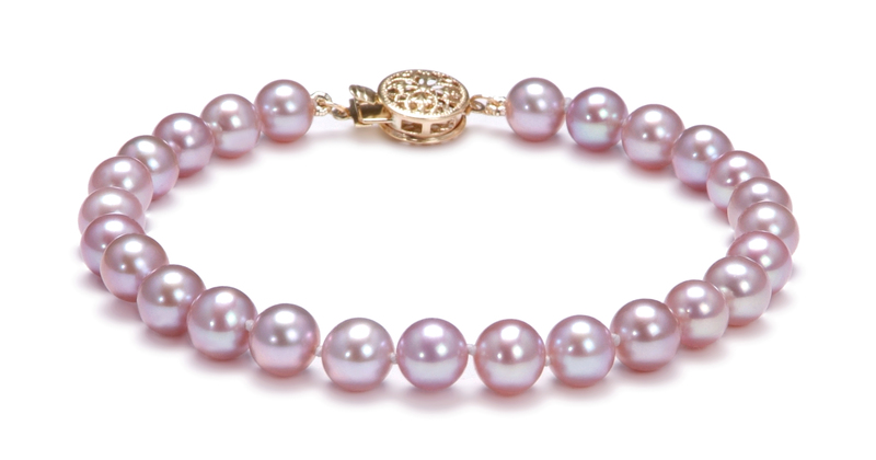 6-6.5mm AAA Quality Freshwater Cultured Pearl Set in Lavender