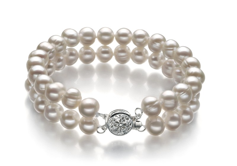 White 6-7mm A Quality Freshwater Pearl Set