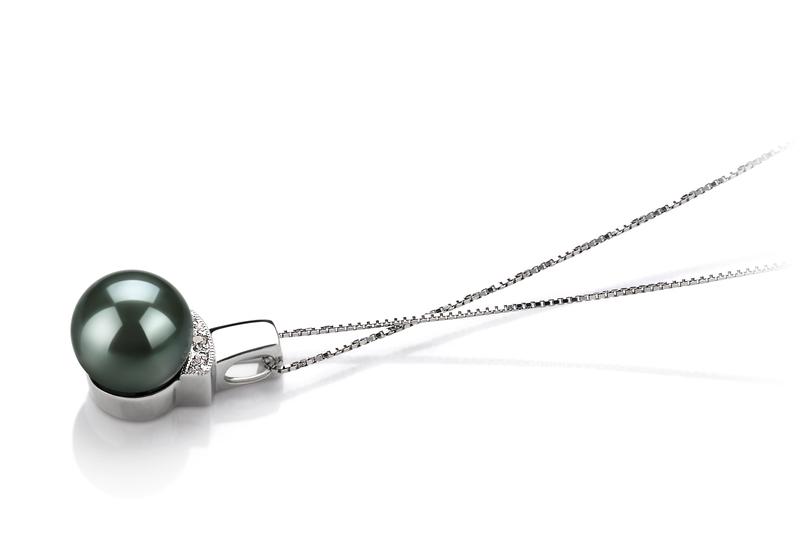 8-9mm AAA Quality Tahitian Cultured Pearl Pendant in Vivian Black