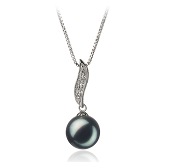 9-10mm AA Quality Freshwater Cultured Pearl Pendant in Alicia Black
