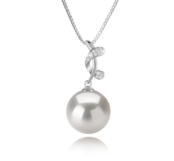 11-12mm AAAA Quality Freshwater - Edison Cultured Pearl Pendant in Angie White
