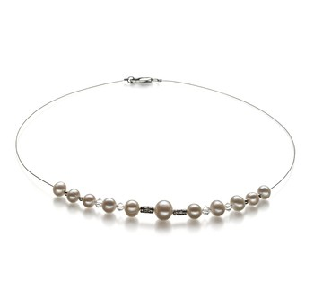 Bertha White 6-10mm A Quality Freshwater Pearl Necklace
