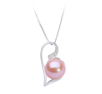 7-8mm AAAA Quality Freshwater Cultured Pearl Pendant in Carlin Pink