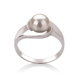 Clare White 6-7mm AAA Quality Freshwater 925 Sterling Silver Pearl Ring