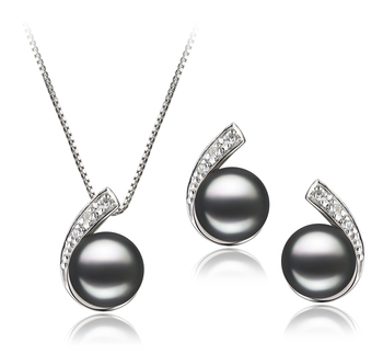 Claudia Black 7-8mm AA Quality Freshwater 925 Sterling Silver Pearl Set