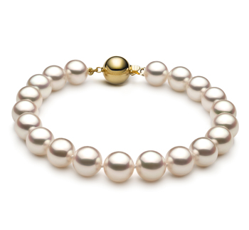 8.5-9mm Hanadama - AAAA Quality Japanese Akoya Cultured Pearl Bracelet in Hanadama 7.5-inch White