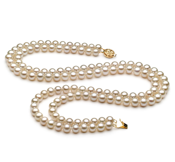 6-7mm AA Quality Freshwater Cultured Pearl Necklace in Liah White