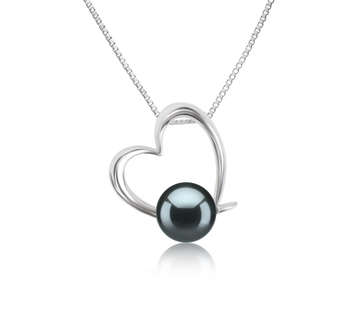 10-11mm AAAA Quality Freshwater Cultured Pearl Pendant in Miranda Black