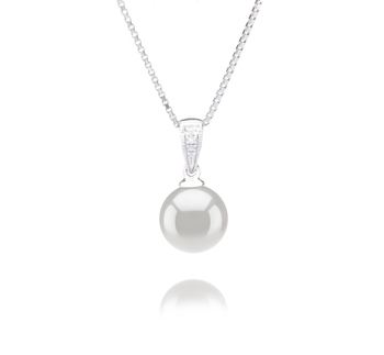 8-9mm AA Quality Japanese Akoya Cultured Pearl Pendant in Mosina White