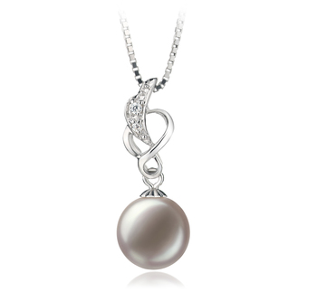 9-10mm AA Quality Freshwater Cultured Pearl Pendant in Naomi White