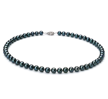 6.5-7mm AAA Quality Japanese Akoya Cultured Pearl Necklace in Black