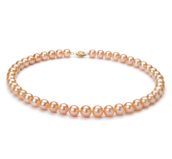 8-9mm AA Quality Freshwater Cultured Pearl Necklace in Pink