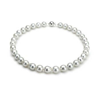 10-12.7mm A Quality South Sea Cultured Pearl Necklace in White