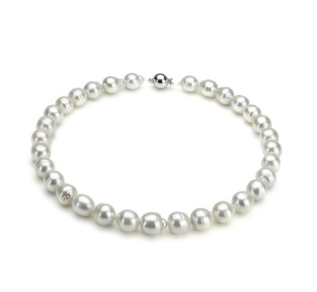 10-13mm A Quality South Sea Cultured Pearl Necklace in White