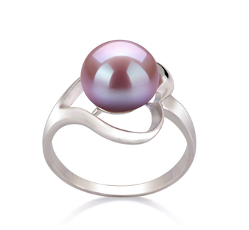 9-10mm AA Quality Freshwater Cultured Pearl Ring in Sadie Lavender
