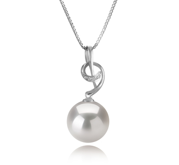 11-12mm AAAA Quality Freshwater - Edison Cultured Pearl Pendant in Sofie White