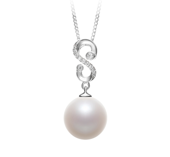 10-11mm AAAA Quality Freshwater Cultured Pearl Pendant in Virginia White