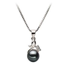 6-7mm AA Quality Japanese Akoya Cultured Pearl Pendant in Ariana Black