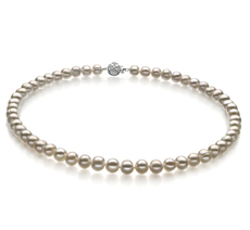 PearlsOnly - Bliss White 6-7mm A Quality Freshwater Cultured Pearl Necklace