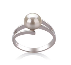 7-8mm AAA Quality Freshwater Cultured Pearl Ring in Jenna White