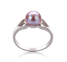 6-7mm AA Quality Freshwater Cultured Pearl Ring in Jessica Lavender