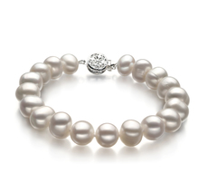 8-9mm A Quality Freshwater Cultured Pearl Bracelet in Kaitlyn White