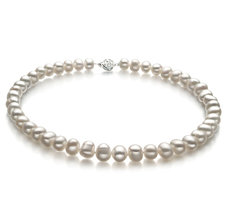 8-9mm A Quality Freshwater Cultured Pearl Necklace in Kaitlyn White
