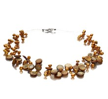 Keita Champagne 4-10mm A Quality Freshwater Pearl Necklace