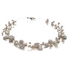 4-10mm A Quality Freshwater Cultured Pearl Necklace in Keita White