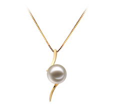 6-7mm AAAA Quality Freshwater Cultured Pearl Pendant in Lanella White
