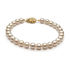 6-7mm AAA Quality Freshwater Cultured Pearl Bracelet in White