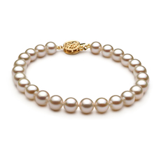 6-6.5mm AAAA Quality Freshwater Cultured Pearl Bracelet in White