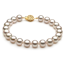 7-7.5mm AA Quality Japanese Akoya Cultured Pearl Bracelet in White