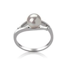 6-7mm AA Quality Japanese Akoya Cultured Pearl Ring in Tanya White