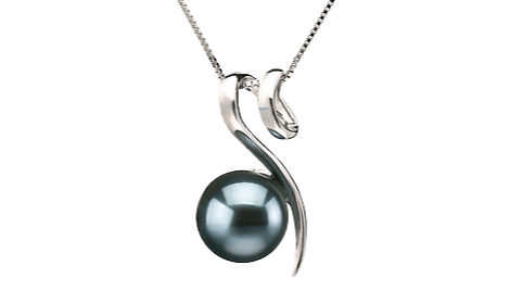 Black Japanese Akoya Pearl Pendants