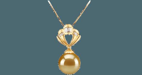 Golden south sea pearl pendants aloadofball Image collections