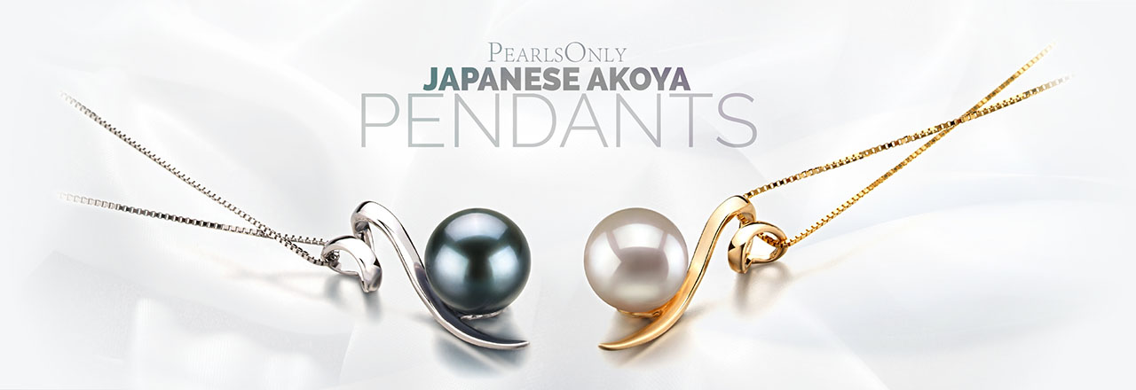 Landing banner for Japanese Akoya Pendants