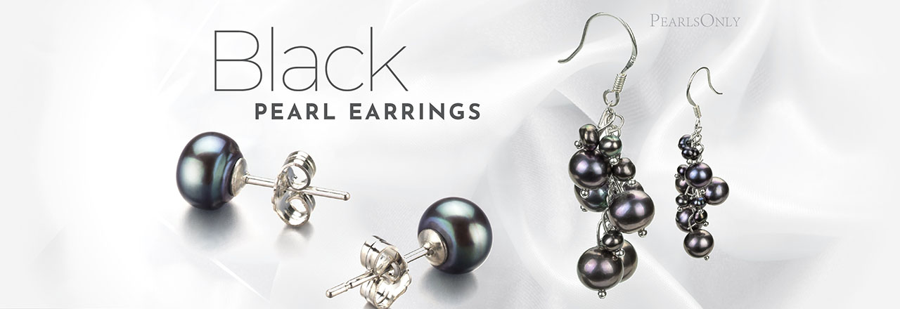 Landing banner for Black Pearl Earrings