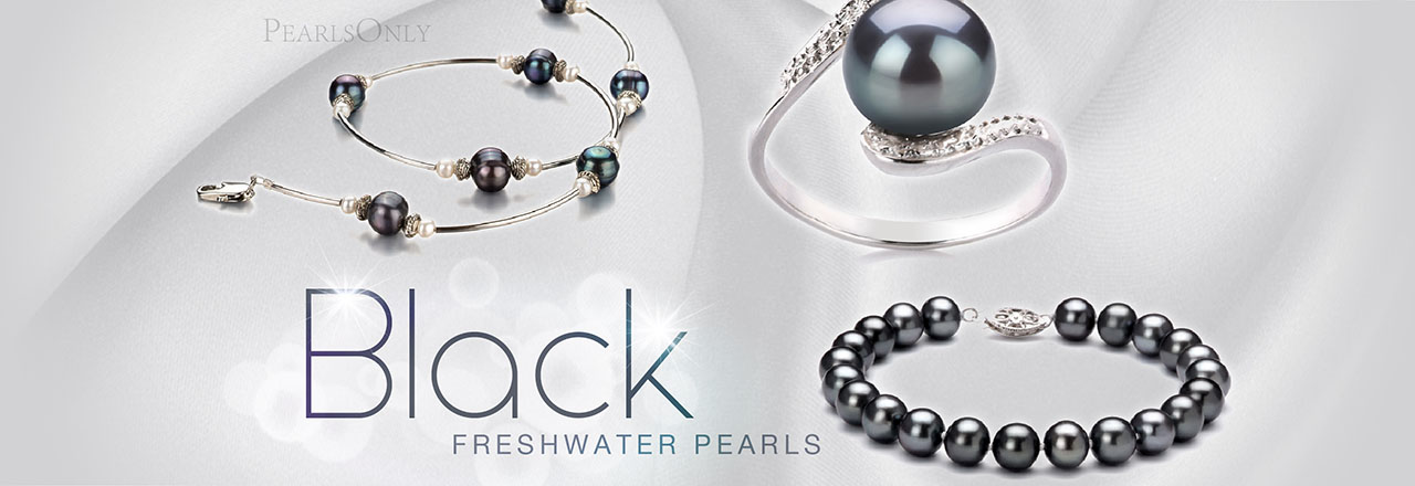 PearlsOnly Black Freshwater Pearls